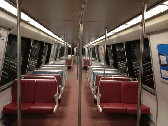 8713 Empty Subway Car