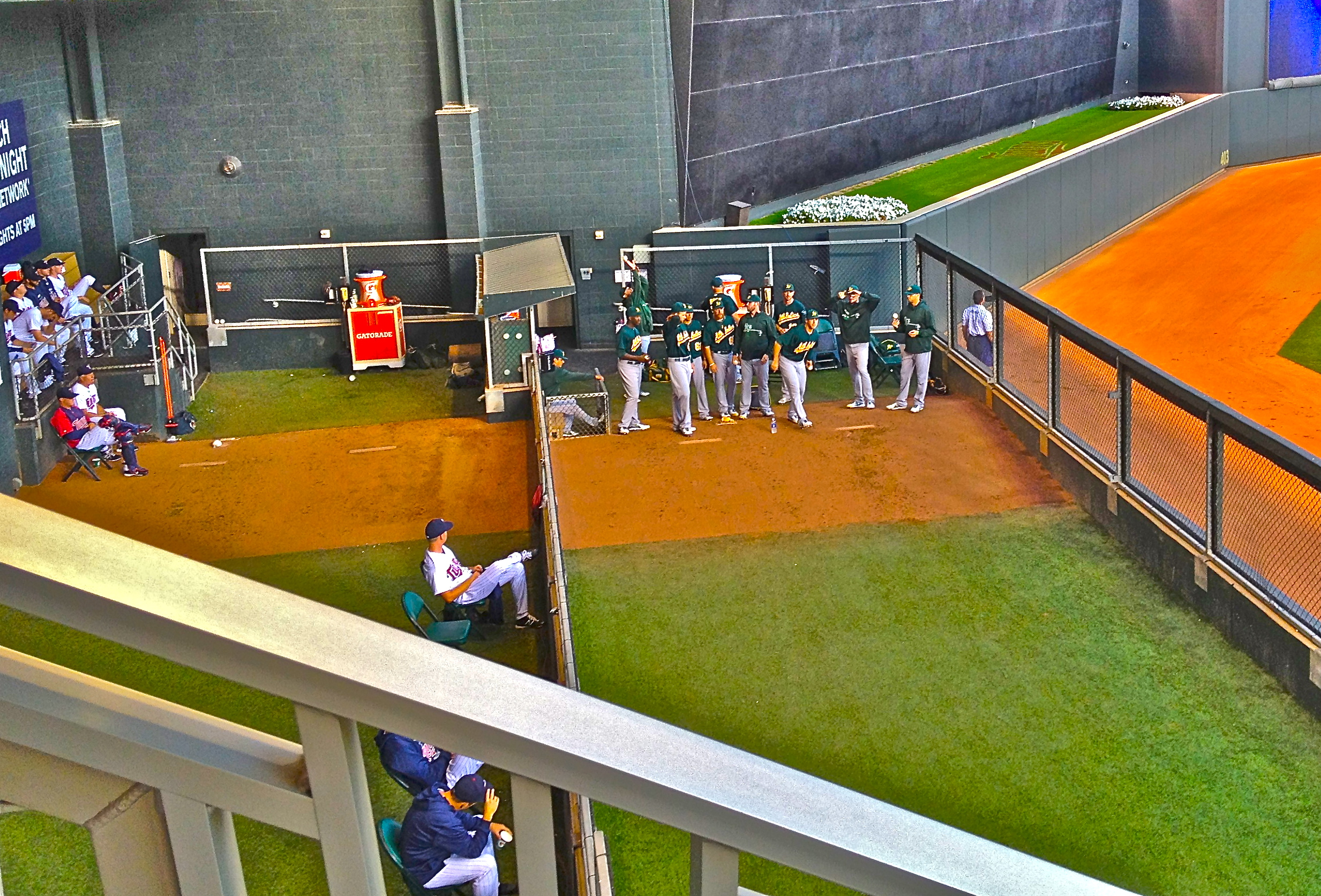 Upper Deck Observing Baseball